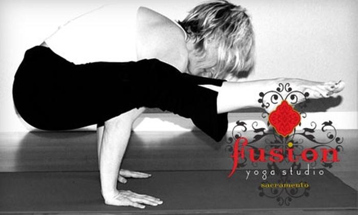 Fusion Yoga Studio Sacramento - Arden - Arcade: $25 for a Five-Class Yoga Pass from Fusion Yoga Studio Sacramento ($70 Value)