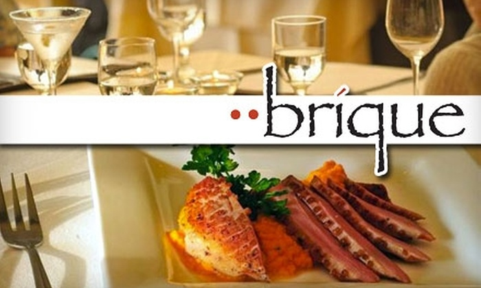 Brique - Centreville: $25 for $50 Worth of Upscale American Cuisine and Drinks at Brique in Centreville