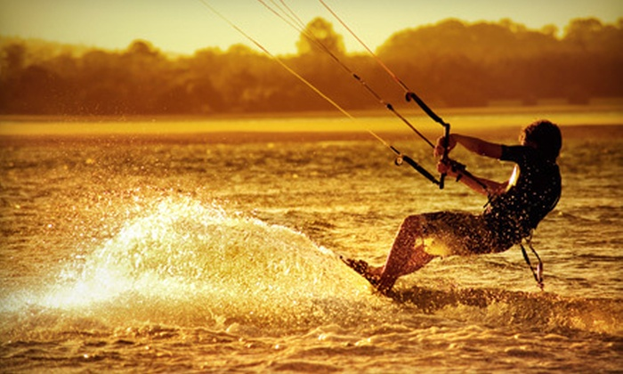 Live2kite - Multiple Locations: Two-Hour Intro-to-Kitesurfing on-Land Lesson or Three-Hour on-Water Lesson at Live2kite (Up to 51% Off)