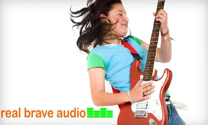 Real Brave Audio - Fresh Meadows: $25 for Two 30-Minute Private Music Lessons at Real Brave Audio