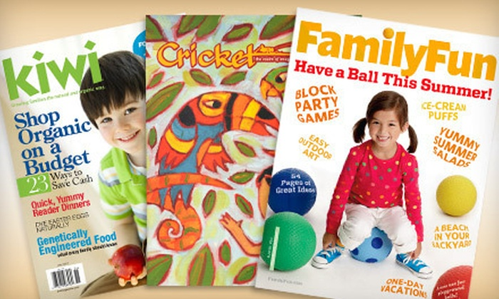 Children's Magazines: Magazine Subscriptions for Parents and Kids (Up to Half Off). Eight Options Available.