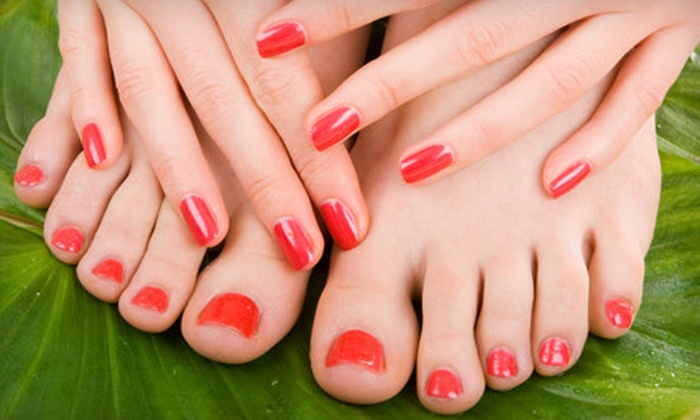 A List Nail & Lash Boutique - Dallas: Shellac Manicure or Shellac Manicure and Relaxing Pedicure at A List Nail & Lash Boutique (56% Off)