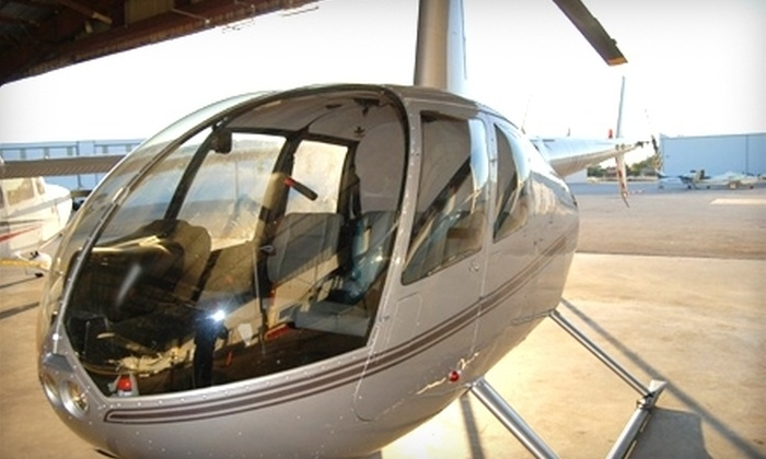 """Alpha Helicopters - Multiple Locations: $159 for a Two-Person, 20-Minute Helicopter Tour and Two 8""""x10"""" Aerial Photos from Alpha Helicopters ($319.96 Value)"""