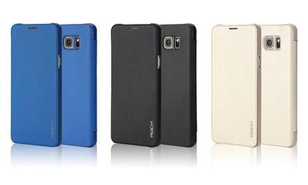 Rock Shockproof Ultra-Slim Leatherette Flip Case for Samsung Galaxy Note 5