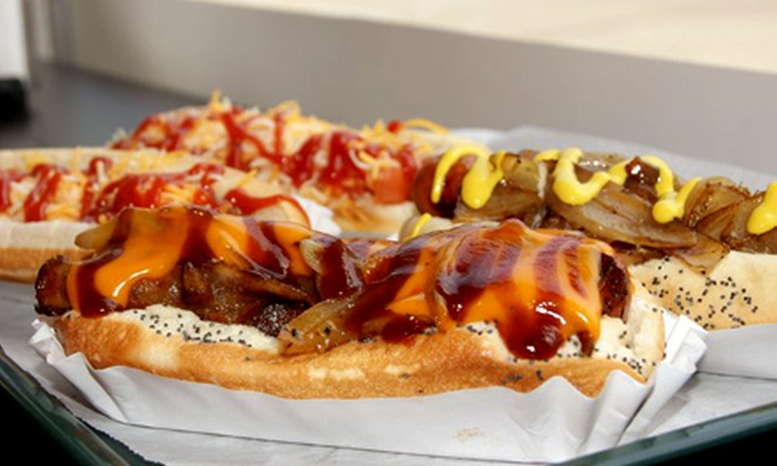 What Up Dawg? Restaurant and Tavern - East Lansing: The Big Dawg Challenge for One, Two, or Four at What Up Dawg? Restaurant and Tavern (Up to 53% Off)