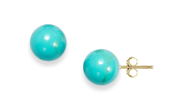 ebay p earrings sterling s post turquoise genuine stud