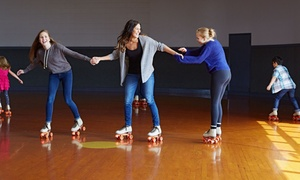 Skaters Choice Panama City: Roller-Skating Package with Pizza for Two or Four at Skaters Choice Panama City (Up to 69% Off)
