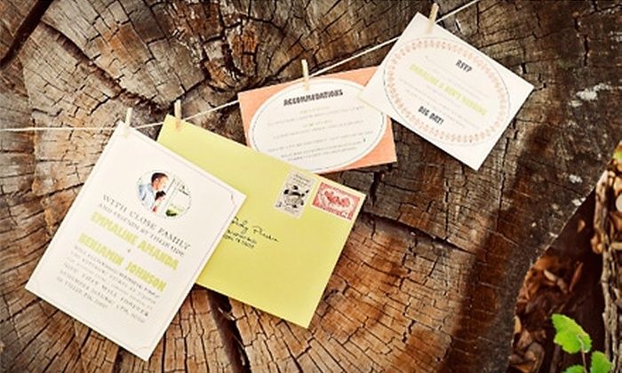 Three by The Quill Pen - Dallas: $10 for $20 Toward Invitations, Plus One Custom Stamp, or $10 for $20 Toward Furniture Rental from Three By the Quill Pen