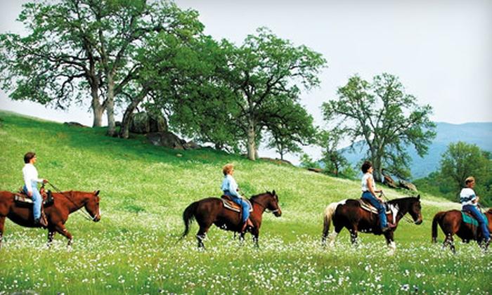 Wonder Valley Ranch Resort - Sanger: $20 for One-Hour Trail Ride at Wonder Valley Ranch Resort (Up to $40 Value)