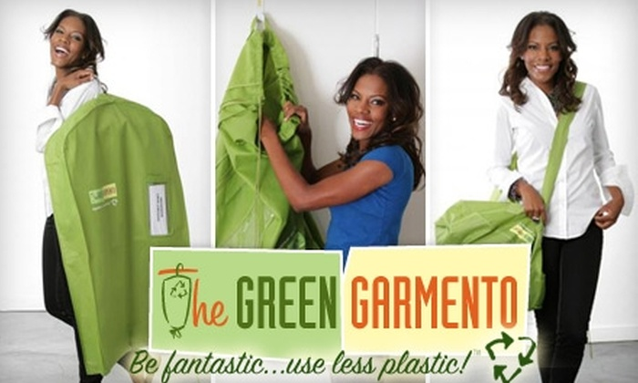 The Green Garmento: $10 for Two Green Garmento Reusable Dry-Cleaning Bags