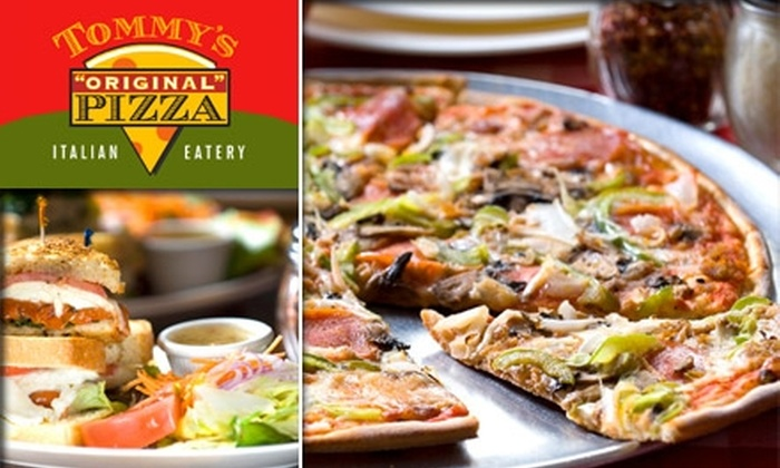Tommy's Original Pizza - Multiple Locations: $10 for $20 Worth of Savory Pizzas and Drinks at Tommy's Original Pizza