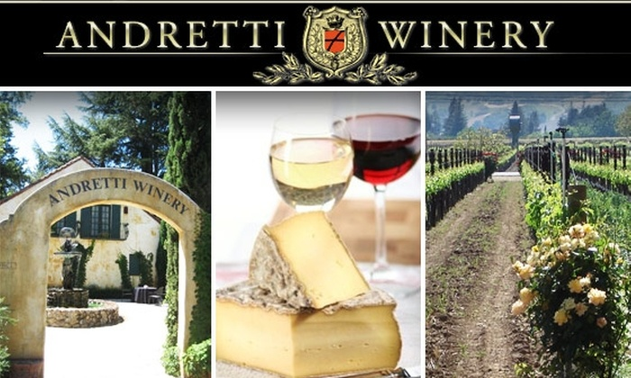 Andretti Winery - San Francisco: Andretti Winery Tour and Tasting for 2, Plus 20% Off Purchases. Buy Here for September 19. See Other Dates Below.