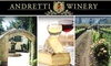 Andretti Winery - Napa: Andretti Winery Tour and Tasting for 2, Plus 20% Off Purchases. Buy Here for September 19. See Other Dates Below.