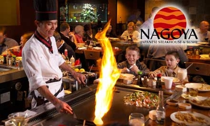 Nagoya Japanese Steakhouse and Sushi - Multiple Locations: $20 for $40 Worth of Japanese Fare at Nagoya Japanese Steakhouse & Sushi