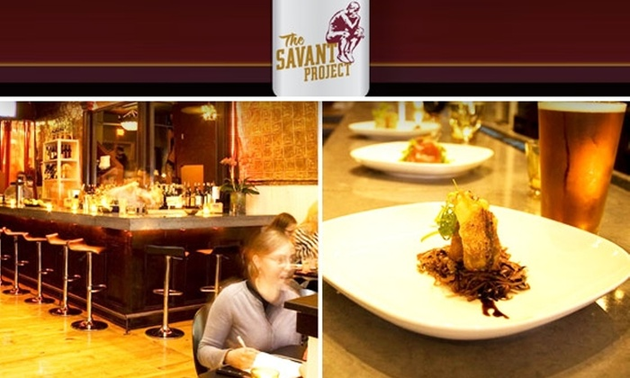 Savant Project - Fenway/Kenmore: $20 for $40 Worth of Gourmet Cuisine, Delicious Beers, and Cocktails at The Savant Project