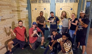 Up to 48% Off Axe Throwing Session at Anarchy Axe Throwing at Anarchy Axe Throwing, plus 6.0% Cash Back from Ebates.