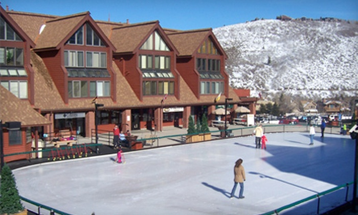 Resort Center Ice Skating Rink - Park City: Resort Center Ice Skating Rink Outing with Admission and Skate Rental for Two or Four in Park City (Up to 55% Off)