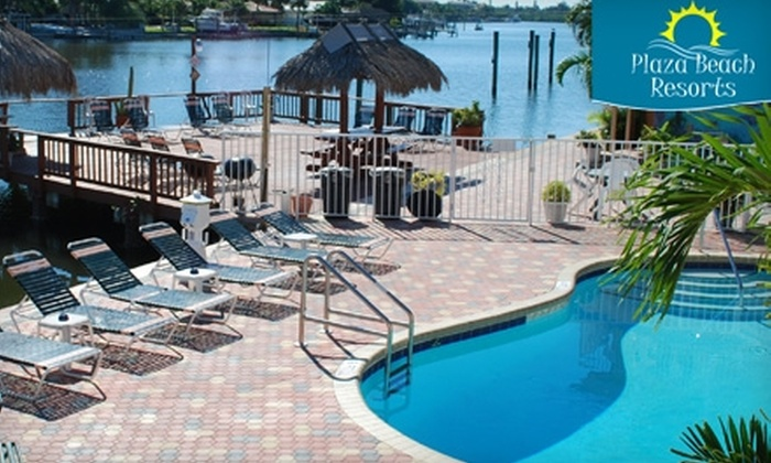 Plaza Beach Resorts - Multiple Locations: $89 for a One-Night Stay for Two at Any of the Plaza Beach Resorts on St. Pete Beach (Up to $241 Value)