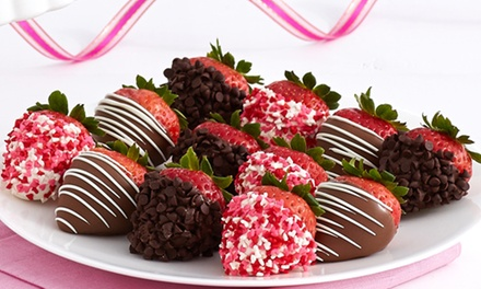 50% Off Gourmet Dipped Strawberries and Treats. Two Options Available.