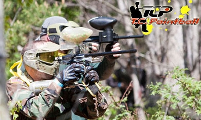 T.C. Paintball - Grandville: $25 for All-Day Play, Equipment, and 500 Paintballs for Two at T.C. Paintball