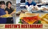 Austin's Restaurant or Austin's Downtown Grill and Sports Bar - Multiple Locations: $10 for $25 Worth of Pub Fare and Drinks at Either Austin's Restaurant or Austin's Downtown Grill and Sports Bar