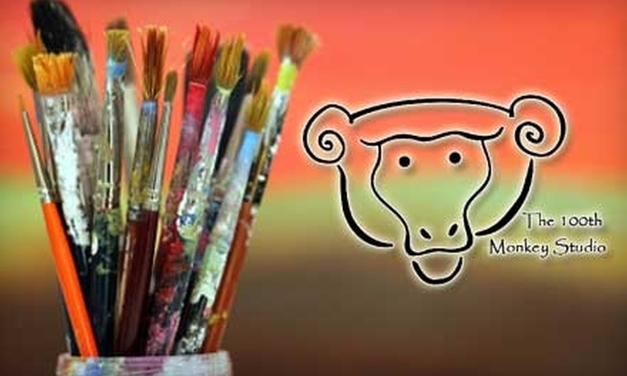 The 100th Monkey Studio - Buckman: $20 for $40 Toward Open Studio Time or Any Class or Workshop at The 100th Monkey Studio