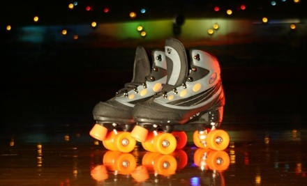 Sunrise Rollerland: 1 Admission, Roller-Skate Rental, Small soda and Choice of 1 Slice of Pizza or 1 Hotdog - Sunrise Rollerland in Citrus Heights