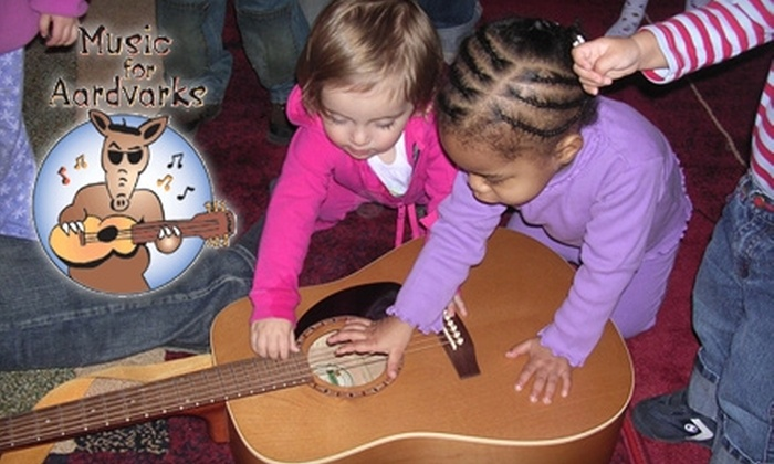 Music for Aardvarks and Other Mammals - Multiple Locations: $29 for Two Drop-in Classes for Children at Music for Aardvarks and Other Mammals ($70 Value)