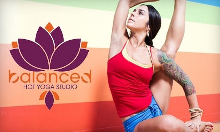 Balanced Hot Yoga Studio - Amity: $35 for Five Drop-In Classes at Balanced Hot Yoga Studio ($80 Value)