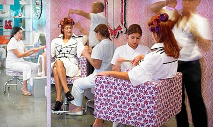 Lace Nail and Beauty Lab - Multiple Locations: $33 for Three Signature Manicures at Lace Nail and Beauty Lab ($66 Value)
