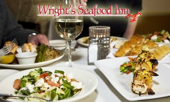 Wright's Seafood Inn - Carnegie: $20 for $40 Worth of Fresh Seafood and Drinks at Wright's Seafood Inn