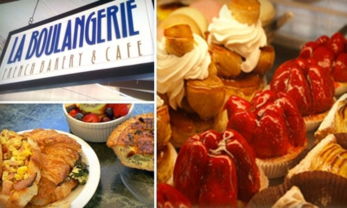 La Boulangerie French Bakery & Cafe - Bullard: $10 Worth of Traditional Cafe Fare and Coffee at La Boulangerie French Bakery & Cafe