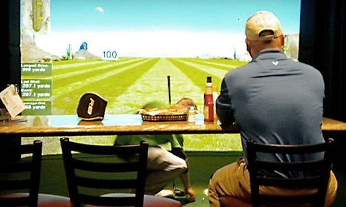 Beyond the Green Indoor Golf & Sportsbar - Moneta: Dinner for Two or Four and a One-Hour Golf-Simulator Experience at Beyond the Green Indoor Golf & Sportsbar in Moneta