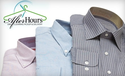 $20 Groupon to After Hours Dry Cleaning Pickup & Delivery - After Hours Dry Cleaning Pickup & Delivery in
