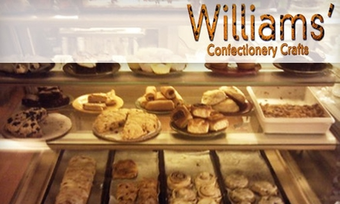 Williams' Confectionery Crafts - Northeast San Antonio: $5 for $10 Worth of Old-Fashioned Baked Goods, Sandwiches, and More at Williams' Confectionery Crafts in Live Oak