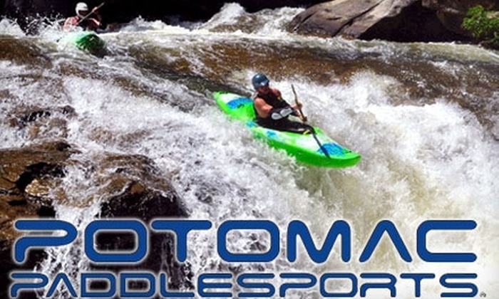 Potomac Paddle Sports - North Bethesda: Beginner Whitewater Lesson Package and Kayaking Accessories from Potomac Paddlesports. Three Options Available.