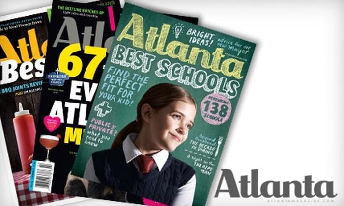 """Atlanta"" Magazine: $6 for a One-Year Subscription to ""Atlanta"" Magazine"
