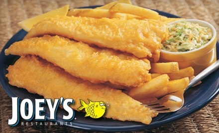 $16 Groupon to Joey's Seafood Restaurant at 15 Worobetz Pl. - Joey's Seafood Restaurants in Saksatoon