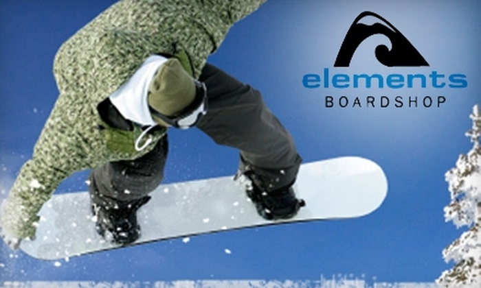 Elements Boardshop - Millcreek: $12 for a Snowboard Hot Wax and Sharpening at Elements Boardshop ($25 Value)