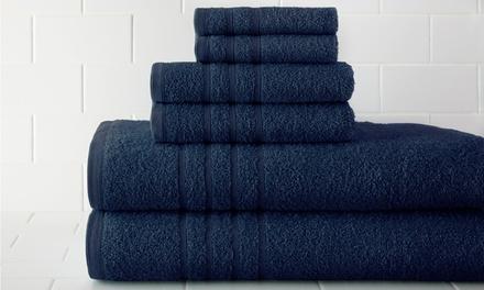 6-Piece Egyptian-Cotton 600gsm Towel Set
