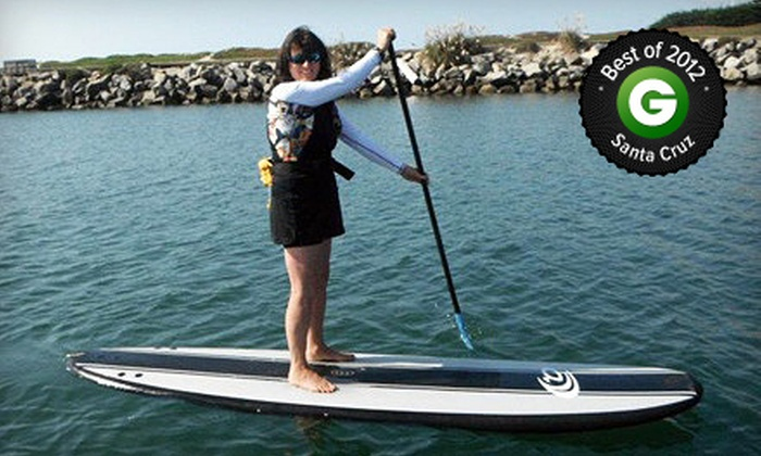 SUP Shack - Santa Cruz Harbor: Standup-Paddleboard Lesson and Board Rental or Advanced Tour at SUP Shack (Up to 64% Off). Three Options Available.