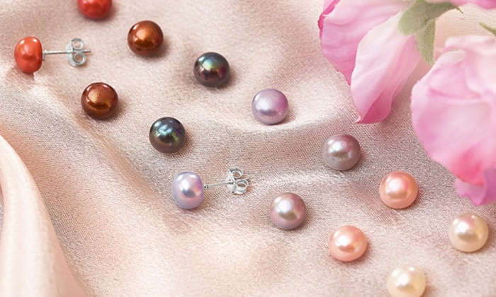 Boucle d'oreille perle groupon