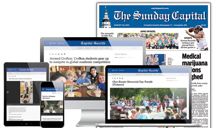 Capital Gazette: $20 for 26 Weeks of Seven-Day Home Delivery with Digital Subscription from Capital Gazette ($206.70 Value)
