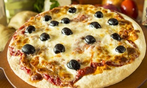 Big Tomato Pizza: Large Thin-Crust Specialty Pizzas with Salads at Big Tomato Pizza (Up to 41% Off). Two Options Available.