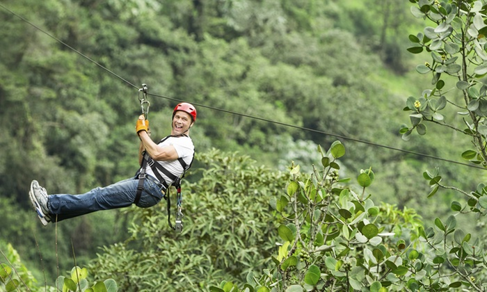 Mica Moon Zip Tours - Chief Garry Park: 2.5-Hour Zipline Adventure with GoPro Video Tour, or Season Pass for One at Mica Moon Zip Tours (Up to 39% Off)