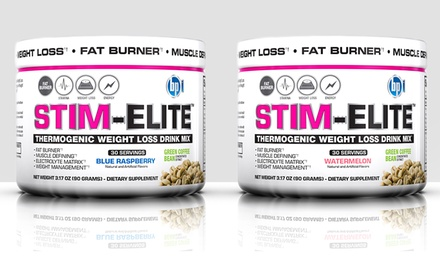 groupon daily deal - 30-Serving BPI Stim Elite Thermogenic Weight Loss Drink Mix in Blue Raspberry or Watermelon