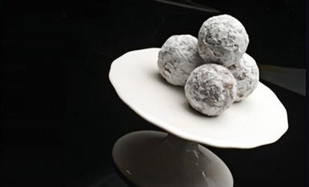 One Custom Box Filled with 8 Artisan Truffles (an $18 value) - Ciel Chocolatier in Walnut