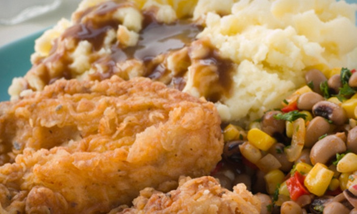 A Family Affair - Ross Heights: $12 for a Soul-Food Dinner for Two with Meats, Sides, and Dessert at A Family Affair (Up to $29 Value)