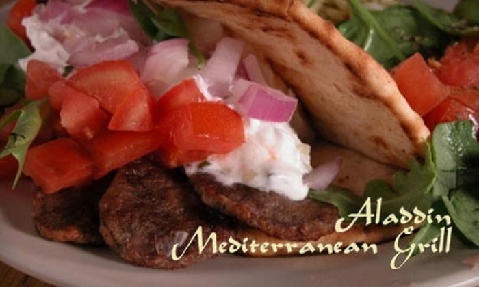 Aladdin Mediterranean Grill - Crossroads at Northlake: $8 for $16 Worth of Mediterranean Cuisine at Aladdin Mediterranean Grill
