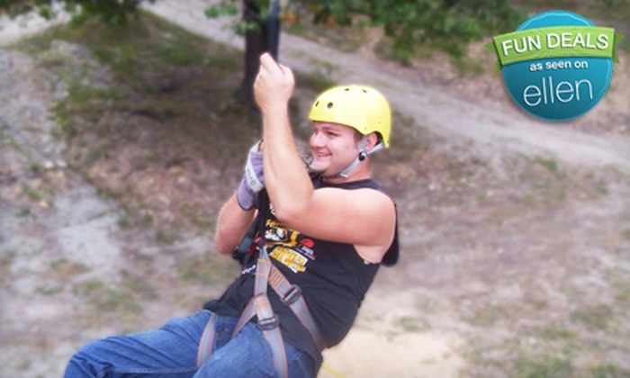 Indian Point Zipline - Multiple Locations: $19 for a Zipline Adventure Tour at Indian Point Zipline in Branson ($39.23 Value)